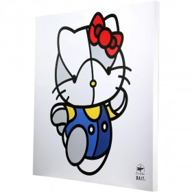 BAIT x David Flores 36 Inch Canvas - Hello Kitty (white / blue)