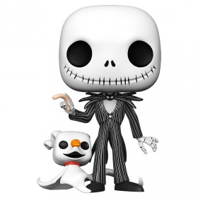 PREORDER - Funko POP Disney Nightmare Before Christmas 10 Inch Jack With Zero (white)