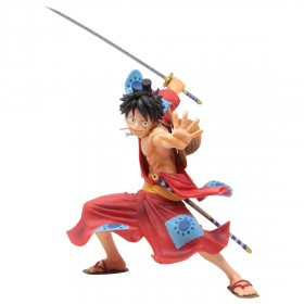 Banpresto One Piece Banpresto World Figure Colosseum 3 Super Master Stars Piece The Monkey D. Luffy Figure (red)