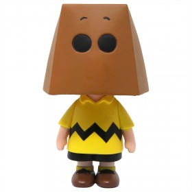 Medicom UDF Peanuts Series 10 Charlie Brown Grocery Bag Ver Ultra Detail Figure (brown)