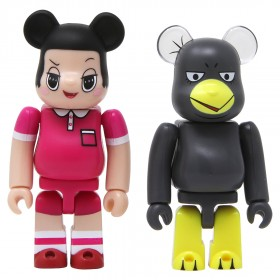 Medicom Chico Will Scold You Chiko-Chan And Kyoe Chan 2 Pack 100% Bearbrick Figure Set (pink / gray)
