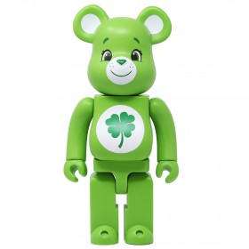 Medicom Care Bears Good Luck Bear 400% Bearbrick Figure (green)