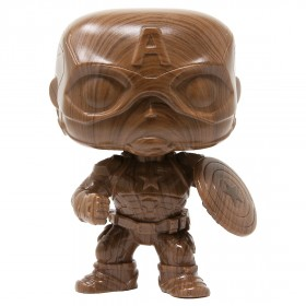 Funko POP Marvel Captain America Wood Deco - Entertainment Earth Exclusive (brown)
