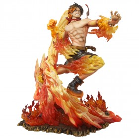 MegaHouse One Piece Portrait of Pirates Neo-Maximum Portgas D. Ace 15th Anniversary Limited Ver. Figure (orange)