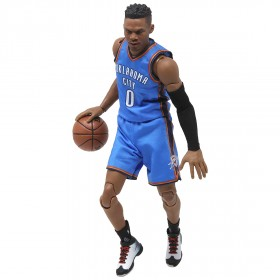 NBA x Enterbay Russell Westbrook 1/9 Scale 9 Inch Figure (blue)