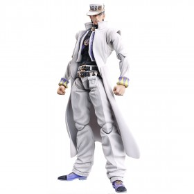 PREORDER - Medicos Super Action Statue JoJo's Bizarre Adventure Part 4 Diamond Is Unbreakable Jotaro Kujo Chozokado Figure Re-Run (white)
