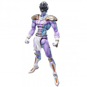 PREORDER - Medicos Super Action Statue JoJo's Bizarre Adventure Part 4 Diamond Is Unbreakable Star Platinum Chozokado Figure Re-Run (purple)