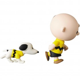 Medicom UDF Peanuts Series 11 Charlie Brown And Snoopy Figure (yellow)