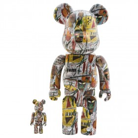 Medicom Jean-Michel Basquiat 100% 400% Bearbrick Figure Set (multi)