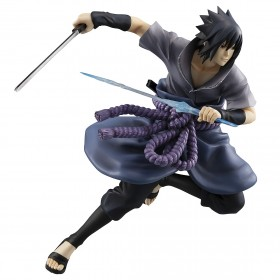 PREORDER - MegaHouse Naruto G.E.M. Series Sasuke Uchiha Shinobi World War Ver. Figure (purple)