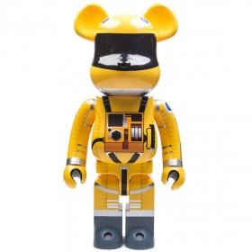 Medicom 2001 A Space Odyssey Space Suit Yellow Ver. 1000% Bearbrick Figure (yellow)