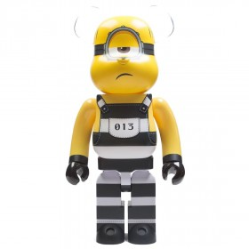 Medicom Despicable Me 3 Minion Mel 1000% Bearbrick Figure (yellow)