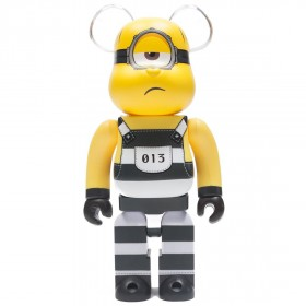 Medicom Despicable Me 3 Minion Mel 400% Bearbrick Figure (yellow)