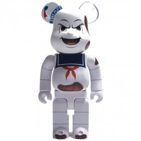 Medicom Ghostbusters Stay Puft Marshmallow Man Anger Face 400% Bearbrick Figure (white)
