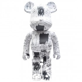 Medicom Jean-Michel Basquiat #3 1000% Bearbrick Figure Set (white)