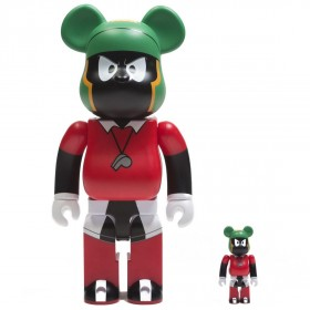 Medicom x Space Jam Marvin The Martian 100% 400% Bearbrick Figure Set (green)