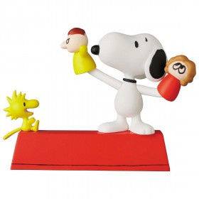 Medicom UDF Peanuts Series 11 Puppet Snoopy And Woodstock Figure (red)