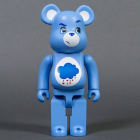 Medicom Care Bears Grumpy Bear 400% Bearbrick Figure (blue)