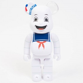 Medicom Ghostbusters Stay Puft Marshmallow Man 400% Bearbrick Figure (white)