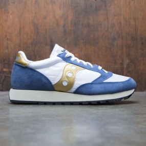 buy popular 5e0d3 1f8f3 Saucony Men Jazz Original Vintage (white   blue   gold)