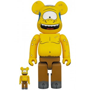 PREORDER - Medicom The Simpsons Cyclops 100% 400% Bearbrick Figure Set (yellow)