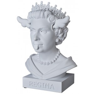 PREORDER - Medicom x SYNC x D*Face Dog Save The Queen Statue (white)