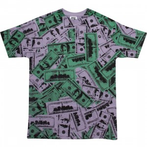 Playing For Keeps Hundred Bills Tee (purple / green)