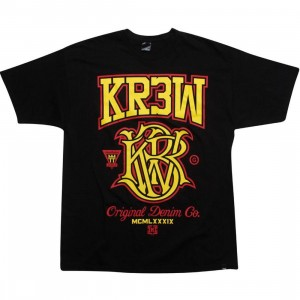 KR3W Champion Tee (black / yellow)