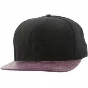 Huf Leather Brim Circle H Cap (black / eggplant)