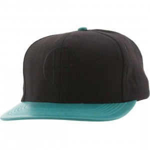 Huf Leather Brim Circle H Cap (black / teal)