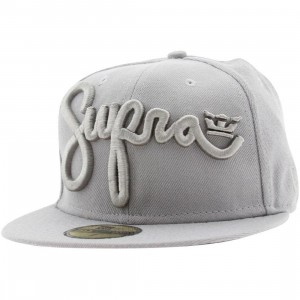 Supra Scribz New Era Fitted Cap (grey)