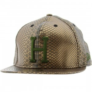 Huf Snake Alligator Skin New Era Fitted Cap (bronze)