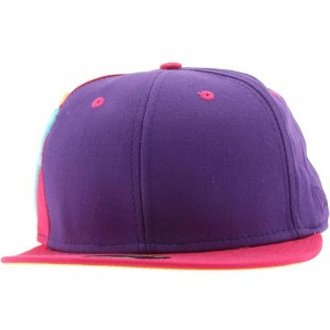 The Hundreds Side TH New Era Fitted Cap (purple)