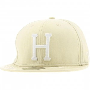 Huf Snake Alligator Skin New Era Fitted Cap (tan)
