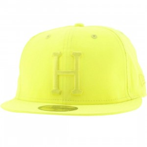 Huf 3M Reflective Neon Yellow New Era Fitted Cap (neon yellow)