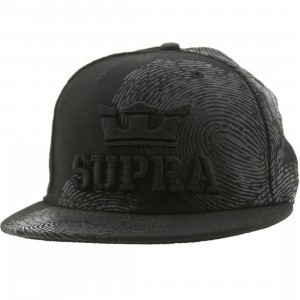 Supra Fingerprint New Era Fitted Cap (black)