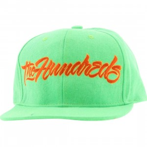 The Hundreds Script Snapback Cap (green / orange)