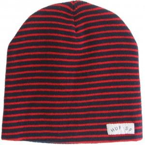Huf Thin Stripe Beanie (red / navy)