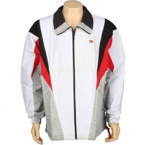 Under Crown Reversible Windycity Breaker Jacket (white / red / elephant print)