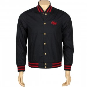 Obey Rebel Varsity Jacket (navy)