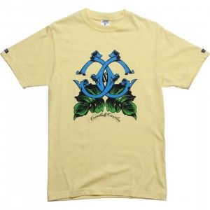 Crooks and Castles Island Cs Tee (canary)