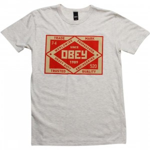 Obey Trademark Tee (heather ivory)