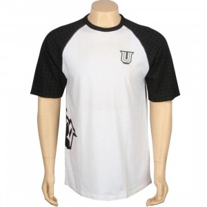 Undefeated 5 Strike Raglan (white / black)