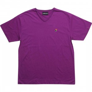The Hundreds Alex V-Neck Tee (purple)