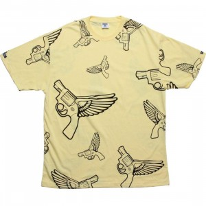 Crooks and Castles Flying Gun Tee (canary)