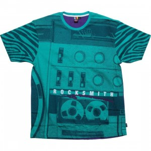 Rock Smith Radio Tee (seafoam / purple)