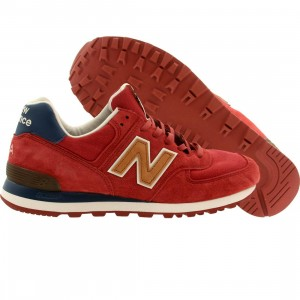 New Balance Men US574DCL - Made In USA (red / blue / tan)