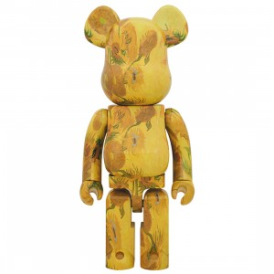 PREORDER - Medicom Van Gogh Museum Sunflowers 1000% Bearbrick Figure (yellow)