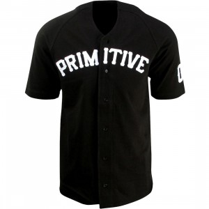 Primitive League Baseball Jersey Shirt (black)