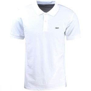 Obey Alley Polo Shirt (white)
